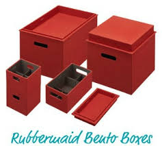 Rubbermaid Bento Boxes Decorative Storage Box Plus Organizer All
