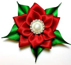 christmas hair accessories hair clip christmas hair bow poinsettia hair clip