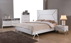 Modern White Furniture Bedroom Modrest Candid Modern White Bed