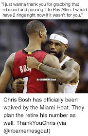Chris Bosh Memes - bosh rt chris bosh watching wade join lebron in cleveland