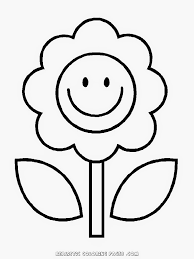 coloring pages simple flower kindergarten kids coloring pages