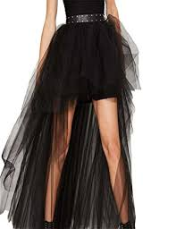 haoyihui women u0027s high low tulle high waist tutu party maxi skirt