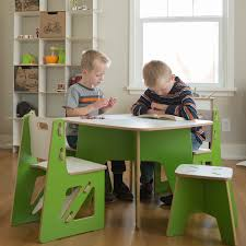 Kids Table And Chairs With Storage Classy Boy Play Table With White Shelves And Laminated Wooden