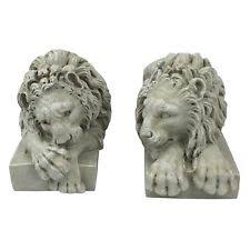 lions statues design toscano ng99035 lions from the vatican sculptures ebay