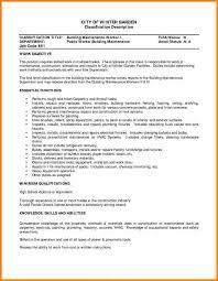 7 maintenance worker resume ledger page