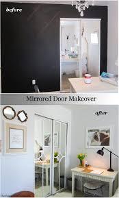 Updating Closet Doors Mirrored Closet Door Makeover