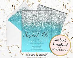 sweet 16 invitation etsy
