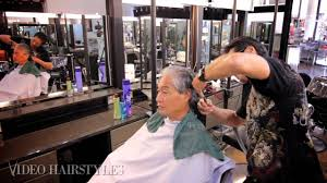 mens haircut square technique from a master stylists in hawaii