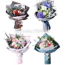 flower wrapping paper aliexpress buy 10 sheets lot flower wrapping paper packaging