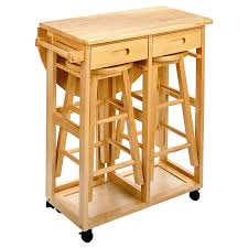 Drop Leaf Kitchen Table For Small Spaces Drop Leaf Kitchen Table With 2 Stools From Hayneedle