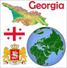 Georgia Country Map Georgia Globe Location Map U2014 Stock Vector Jrtburr 85969952