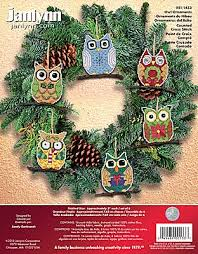 janlynn cross stitch kit owl ornaments stoney creek store