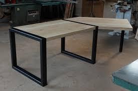 plateau bureau sur mesure fabrication de bureau sur mesure avec plateaux en chêne massif