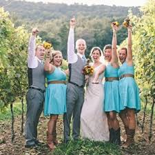 country bridesmaid dresses with cowboy boots