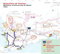 Map Of Yemen Map Of Yemenese Electricity Grid Yemen National Energy Grids