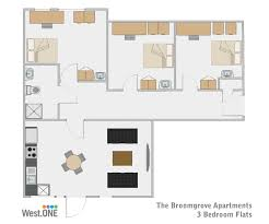 student accommodation sheffield 3 bedroom apartment at broomgrove