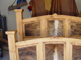 COWHIDE BEDS COWHIDE BEDROOM FURNITURE WE BEAT FREE SHIPPING - Cowhide bedroom furniture