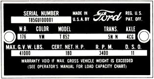 decode your u002761 u002762 ford truck vin tag fordification info the