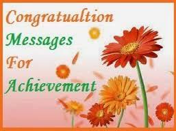 congratulation messages achievement