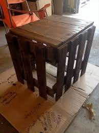 Diy Reclaimed Wood Side Table by Diy Pallet Side Table And End Table Pallet Furniture Plans