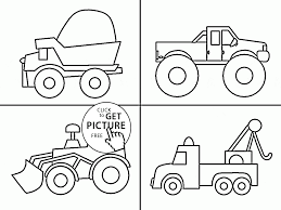 trucks coloring page for kids transportation coloring pages