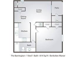 Barrington Floor Plan 1 Bedroom Apartment Floor Plans U0026 Pricing U2013 Berkshire Manor