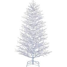 ge pre lit 7 winterberry artificial tree white