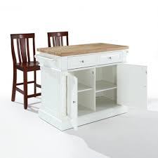 Butchers Block Kitchen Island Chic Butcher Block Kitchen Island Of Chrome Cabinet Door Knobs And