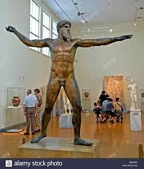 zeus poseidon bronze statue mighty god art greek greece museum