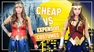 cheap vs expensive halloween costumes kamri noel youtube