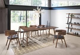Modern Walnut Dining Chairs Oritz Mid Century Modern Walnut Dining Set