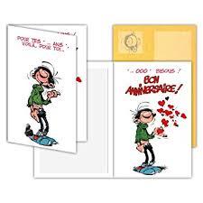 bureau bisous gaston lagaffe glct 0113 carte d anniversaire avec motif pour tes