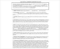 rental agreement template free pdf word documents creative