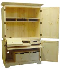 Real Wood Armoire Furniture Computer Armoires With Frame Foto Stand And Boxes