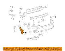 2015 lexus rx 350 for sale tampa lexus toyota oem 10 15 rx350 rear bumper retainer bracket left