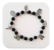 armor of god bracelet catholicshop armour of god bracelet in faceted black glass