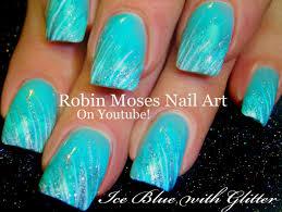 easy nail art glitter easy glitter striped nails diy nail art for beginners youtube