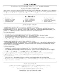 sample resume objectives for career change hr objective human
