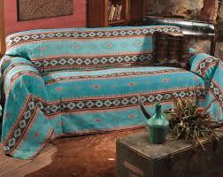 amazon com skystone turquoise southwestern sofa cover rustic