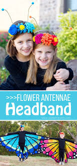 butterfly antennae headband diy flower antennae headband to match the large wing butterfly