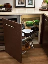 Kitchen Corner Cabinet Solutions by Captivating Corner Kitchen Cabinet Design With White Ceramic