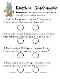 awesome collection of subtraction number sentences worksheets