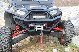 polaris rzr light bar polaris rzr 900 heavy duty front bumper with 10 led light bar bad