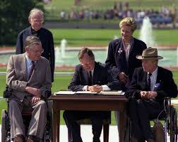 george h w bush date of birth from the archives a landmark moment for americans with