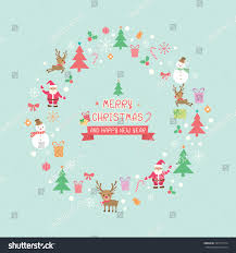 merry happy new year ornaments stock vector 507017914