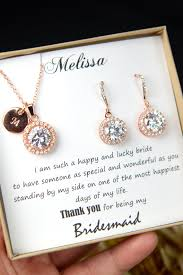 personalized wedding jewelry personalized bridesmaid jewelry gift set hat we would wear forever