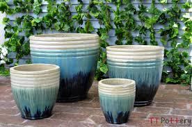 Plant Potters by Vietnamese Pottery Wholesale Glazed Planters Outdoor Glazed