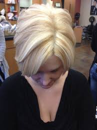 fine graycoming in of short bob hairstyles for 70 yr old short bob platinum base with golden blonde lowlights and blonde
