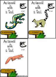 animal body parts flashcards for life science and esl