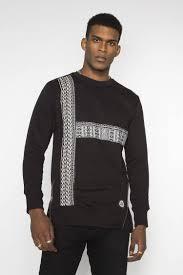 dashiki sweater black longline dashiki sweatshirt s